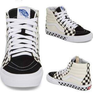 cf98e2867a8 Vans Shoes - VANS Sk8 Hi Checker Sidewall Sneaker